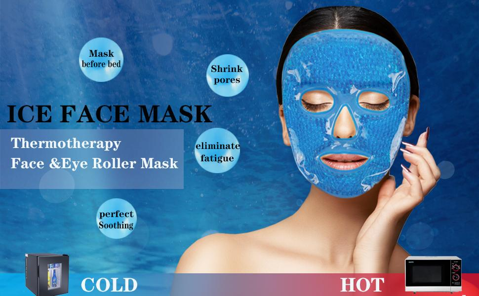 2 in 1 Face Ice Pack Cooling Cold Gel Eye Mask