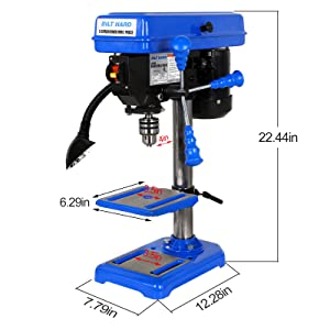 drill press with work led light
