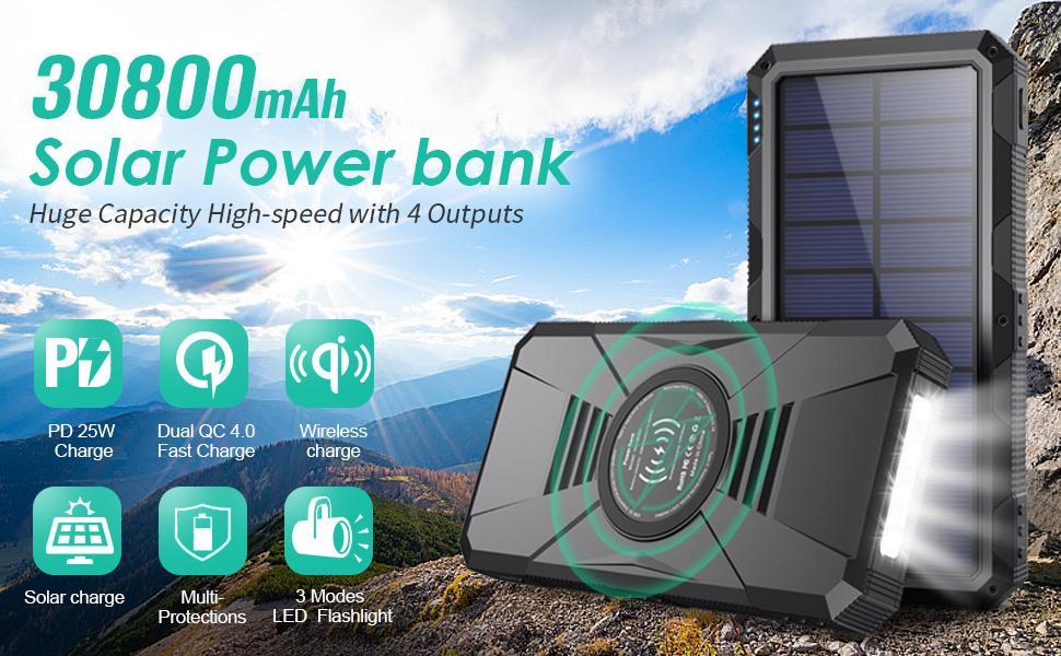 Power Bank 30800mAh