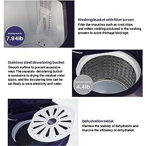 Washing machine and spin dryer