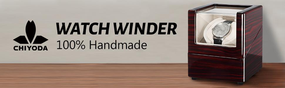 CHIYODA Watch Winder Classic Piano Finish Design for Automatic Watches