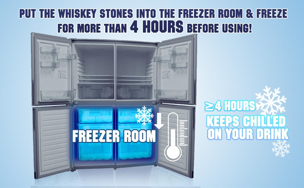 Tips of whiskey stones