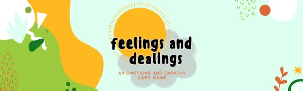 Feelings and Dealings logo on light blue background