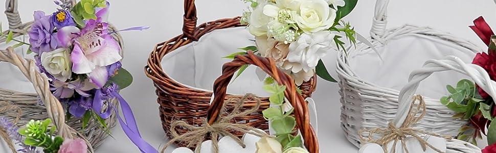 Heart Shaped Flowergirl basket