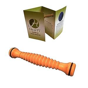 Foot roller wooden plantar fasciitis massager