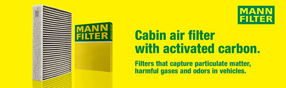 Mann Filter Cabin Air Filter With Activated Carbon