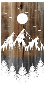 Premium Wooden Cornhole Boards Set Outdoor Games Yard Cabin Backyard Toss