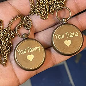 """Back side engraved """"Your Tommy"""" and """"Your Tubbo"""""""