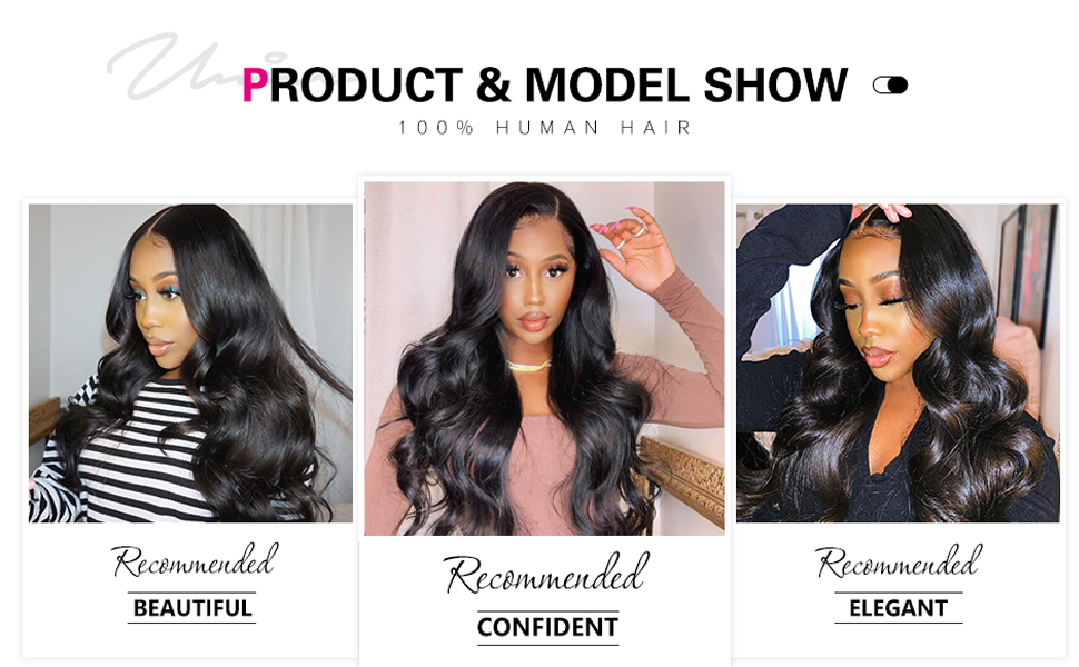 body wave human hair bundles with frontal