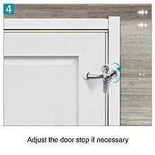 Adjust the door stop if necessary
