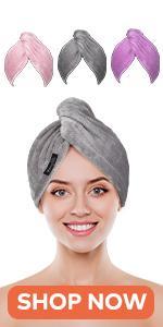 Microfiber Hair Towel 3 Packs