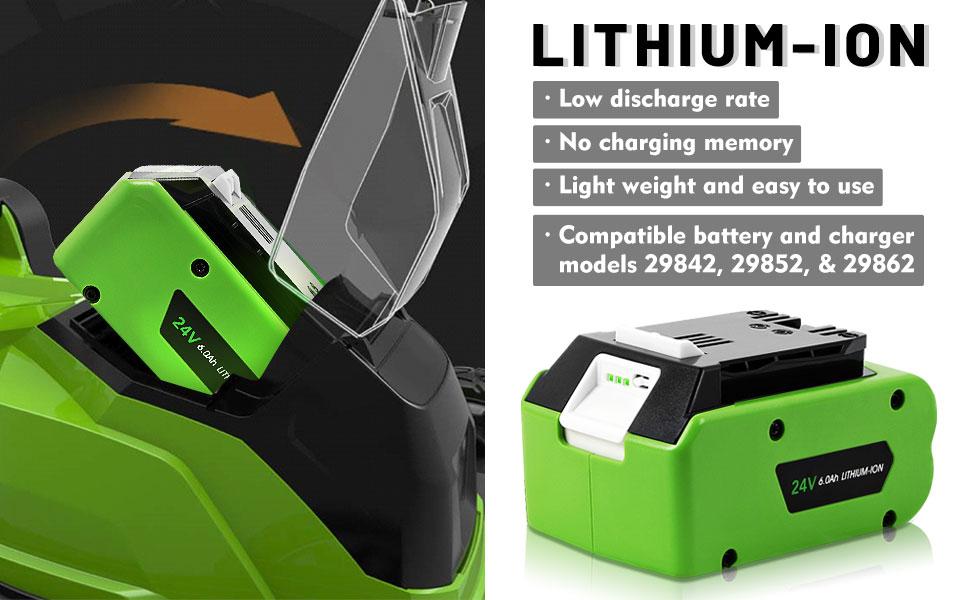 Battery for Greenworks 24V