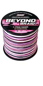 Pink Camo Braided Line
