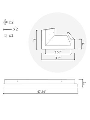 48 inch floating shelf