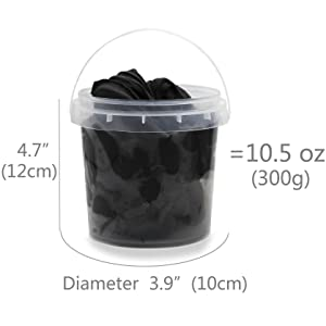 size and weight of clay