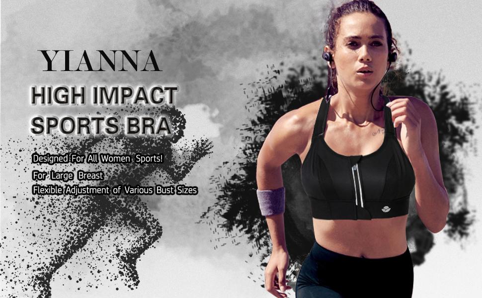 YIANNA High Impact Sports Bra