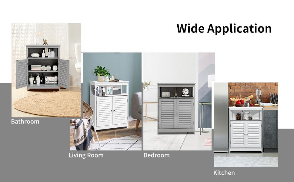freestanding storage cabinet