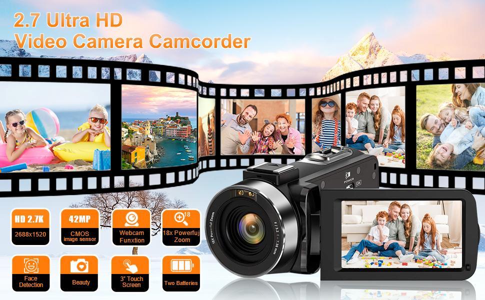 2.7k camcorder camera