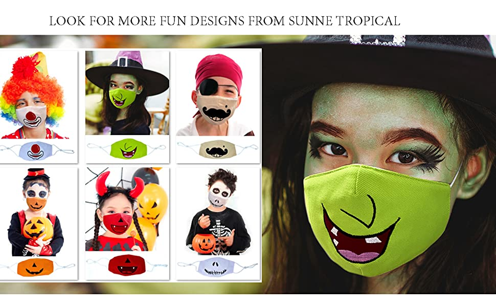 sunne tropical kids Halloween costume back to school birthday party play date stage play face mask
