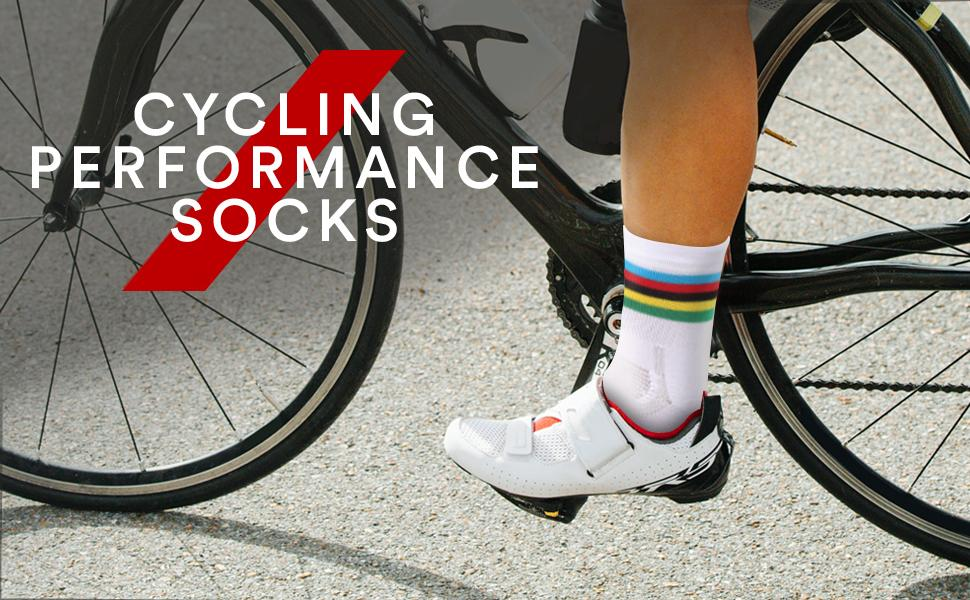 1 Pair Unisex Riding Cycling Sports Socks Breathable Bicycle Footwear Calf Socks