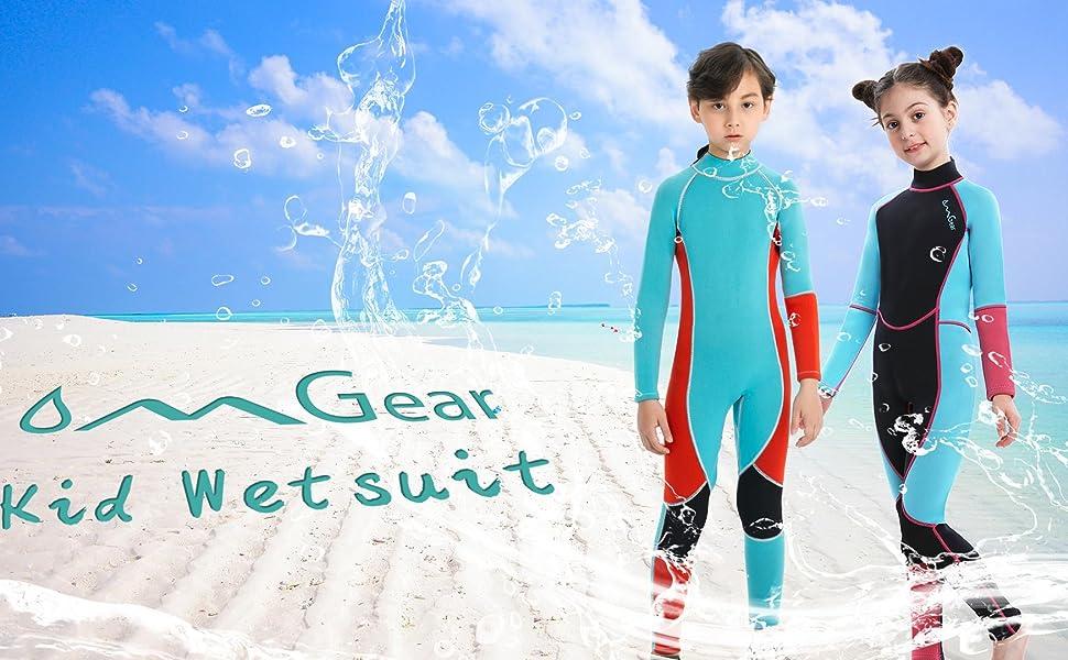OMGear kids full wetsuit swimsuit