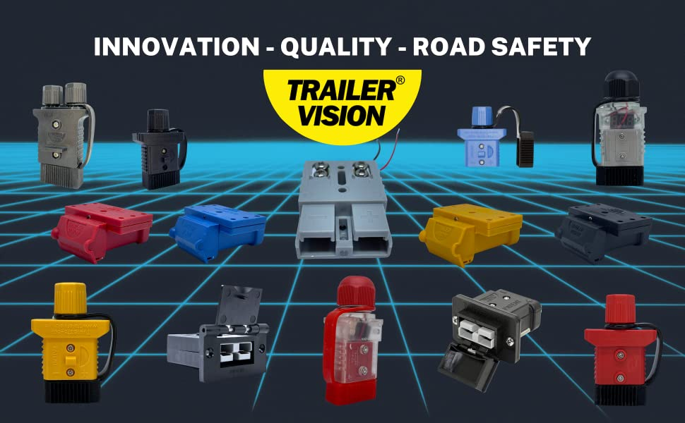 trailer vision products for road safety - anderson covers connector secured electrical wire plug