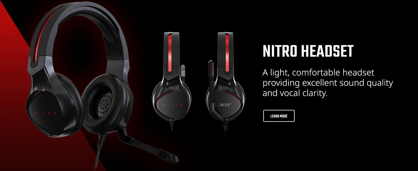 nitro headset earset headphones gaming comfortable twitch discord light overwatch lol cod fortnite