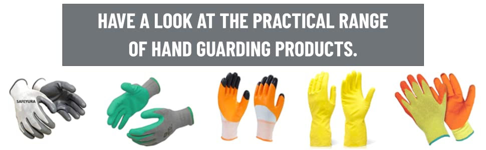 SAFEYURA Anti Cut Resistance Gloves for Hand Protection Pack of 3 Pairs- Nylon Grey SPN-FOR1
