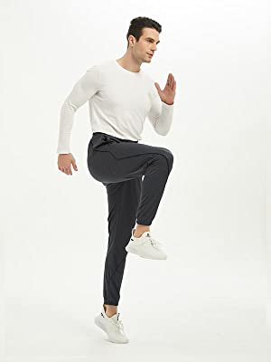 Men's Running Joggers Pants Lightweight Workout Athletic Training Gym Quick Dry