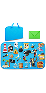 OCEAN PIRATE SHIP Felt board toddlers foldable travel friendly 1