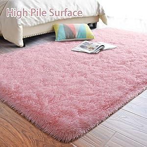 Long Fur Rug for Girls Room