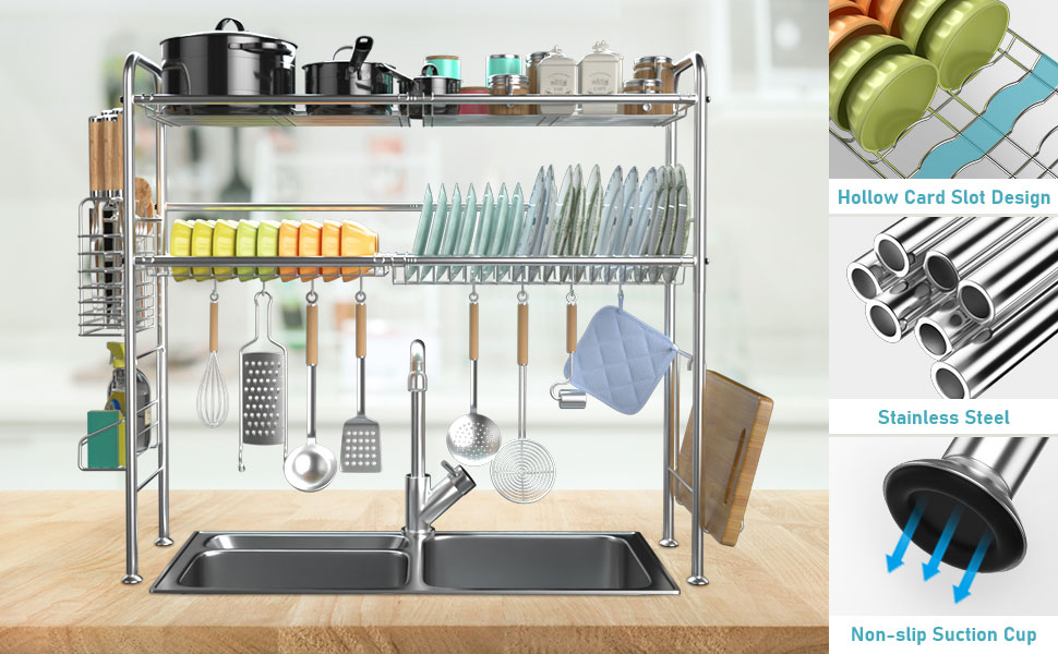 dish drainer dish rack over the sink dish racks for counter  dish drying rack 2 tier dish rack