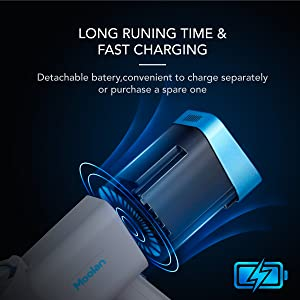 long runnning time and fast charging