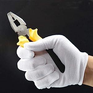 cotton gloves work gloves white gloves liner indoor gloves liner farming weeding yard dry hand glove
