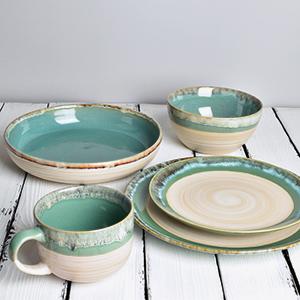 ceramic dinnerware set bowls and plates