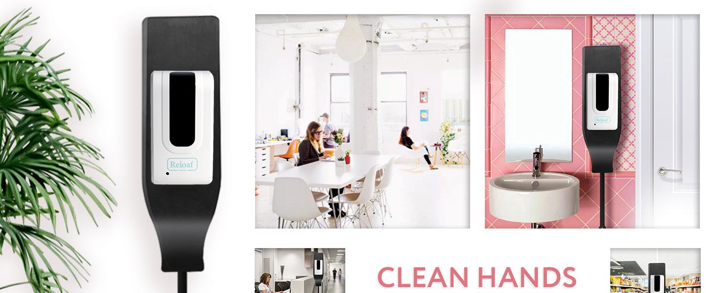 Reloaf Touchless Hands Sanitizer Dispenser Floor Station Valentine's Day Gift for Her Him Kids Love