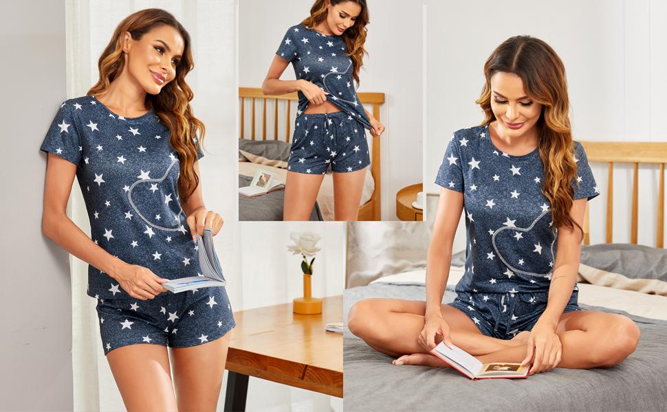 Star Print Pajama Set