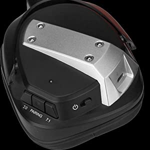 On-ear Switch for 7.1 surround sound