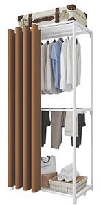 Porte-vêtements à 3 niveaux marron