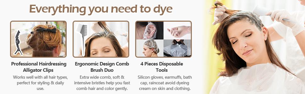 Complete hair dye kit