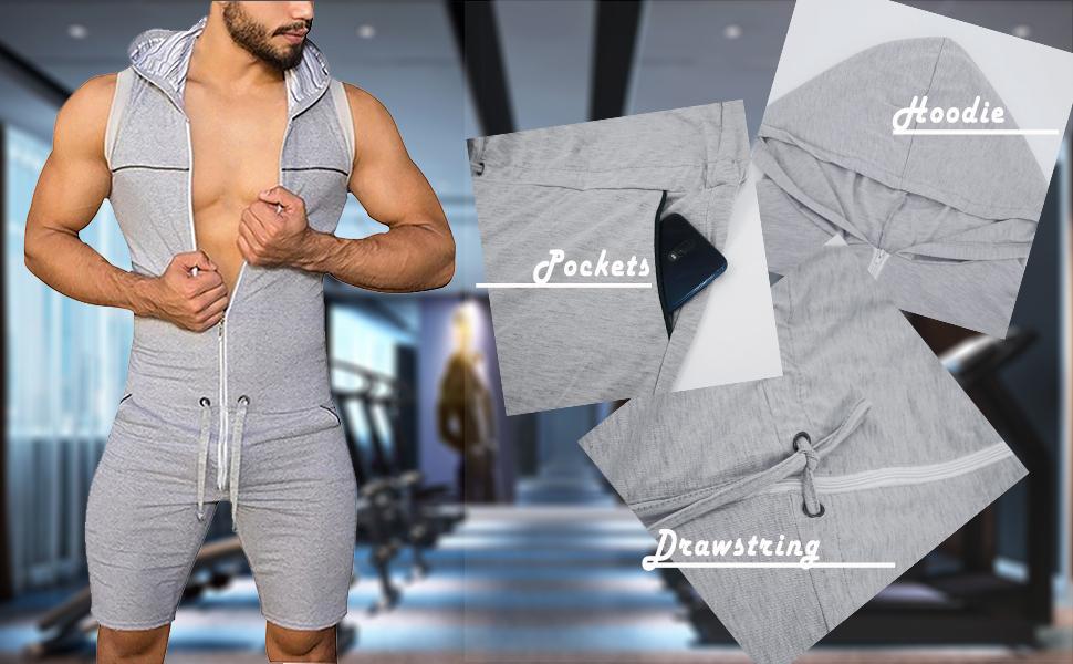 men tracksuit adult onesie jumpsuit