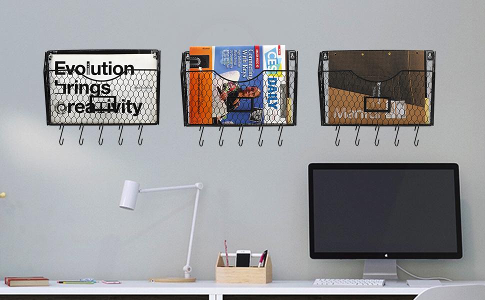 mail organizer wall mount,wall file organizer,farmhouse classroom decor,office wall organizer