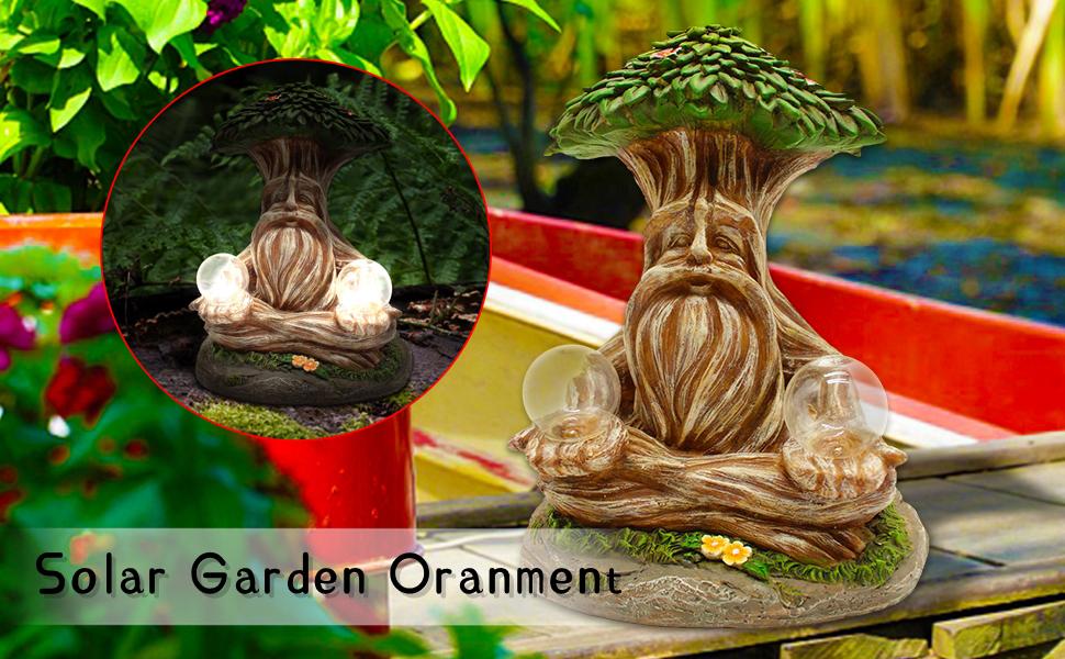 zen decor solar powered garden gnomes garden light outdoor decor solar zen figurine garden statue