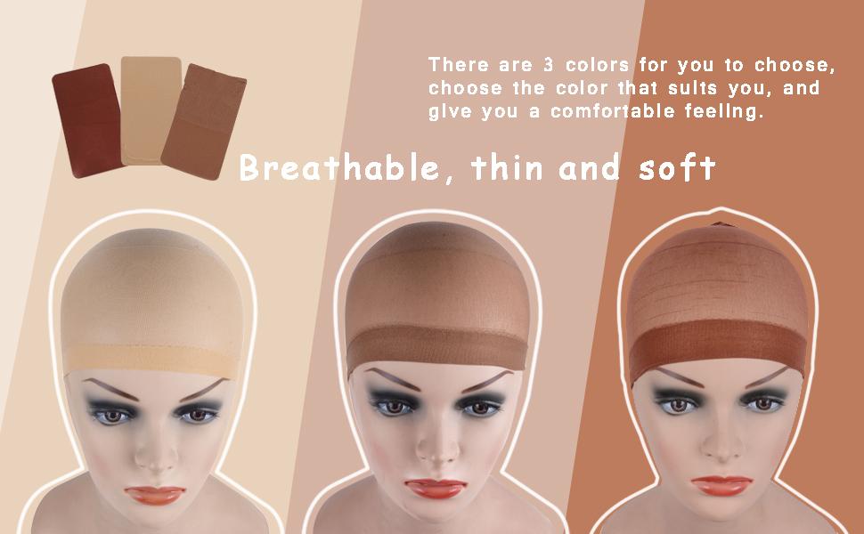 Wig Caps Beige Nylon Stocking Wig Caps for Women
