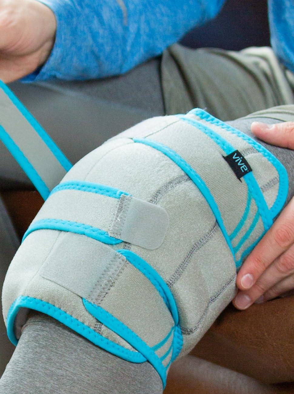 knee ice brace, ice pack wrap for legs