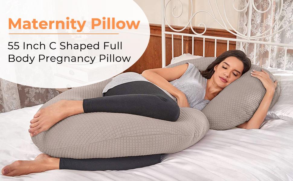 C shape pregnancy pillow