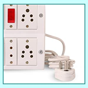 """INDRICO"""" Switch Board Spike Buster Fitted with 5 Anchor Sockets 4 Metre Wire with 5Amp Plug SPN-FOR1"""