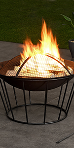 fire pit, outdoor decor