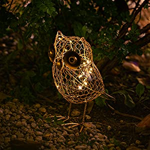 Owl solar figurine