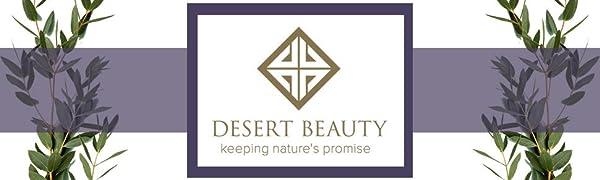 Desert Beauty logo in purple frame